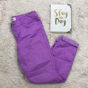 L E I Ashley Low rise Purple Pants